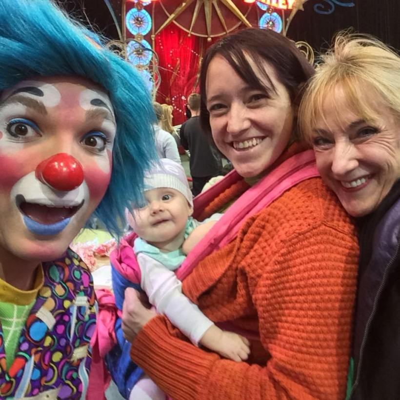 Baby K's First Circus With Mom an Gigi